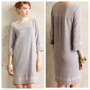 Anthropologie S Embroidered Anstice Sweater Dress